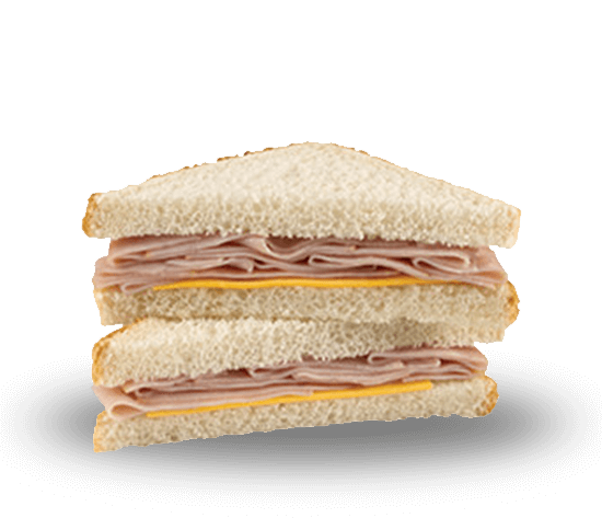 Smoked Ham and Cheese Wedge Sandwich
