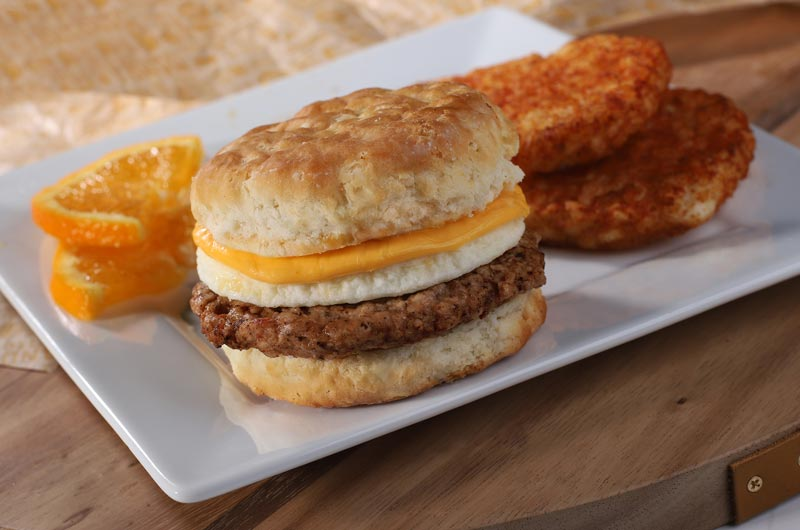 Sausage Egg and Cheese Biscuit