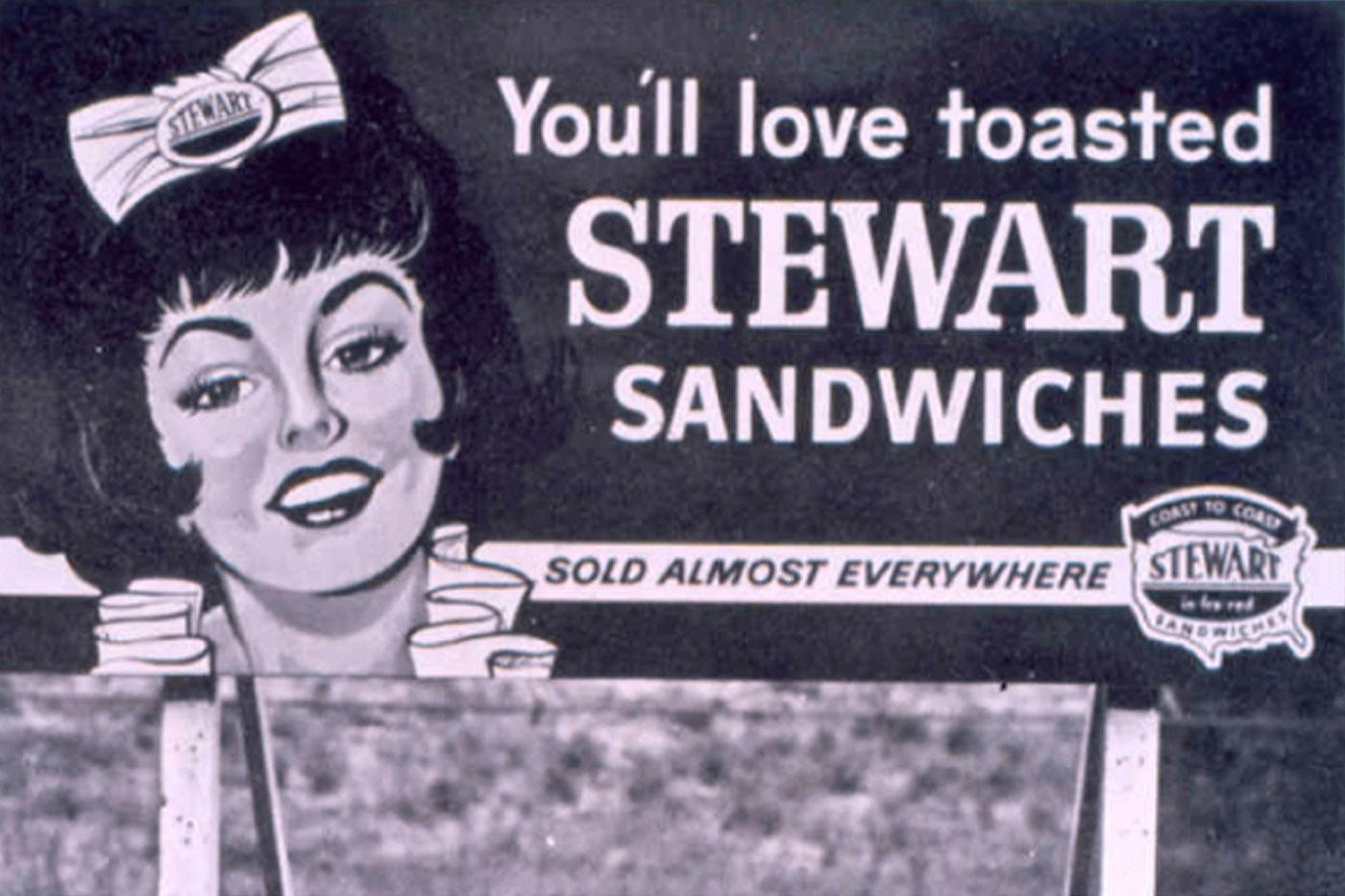 Image of Stewart Sandwiches Billboard