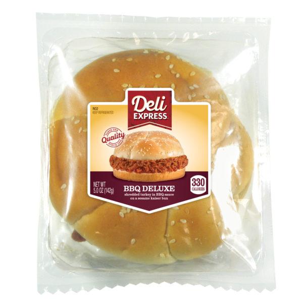 Deli Express BBQ Deluxe Sandwich in package