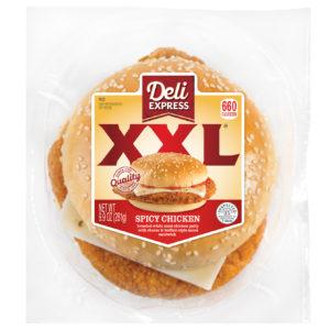 Deli Express XXL Spicy Chicken Sandwich in Package