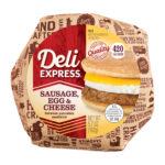 Sausage Egg & Cheese between Pancakes Breakfast Sandwich in package
