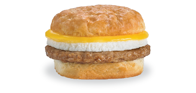 sausage egg biscuit breakfast sandwich